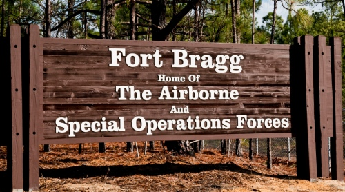 Fort Bragg Welcome Sign